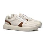 Sapato Masculino Sneaker Recortes Look Branco