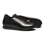 Sapato Masculino Jogging Estampa Furadinha Look Lycra Preto