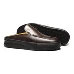 Sapato Masculino Mule Casual Liso Napa Mouro