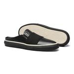 Sapato Masculino Mule Casual Pala Elástico Napa Preto