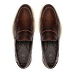 Sapato Masculino Mocassim Casual Gravata Bicolor Eurotex Mouro-Pinhao