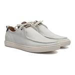 Sapato Masculino Sneaker 2furos Camurca Off White