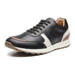 Sapato Masculino Sneaker Jogging Recortes Napa Preto