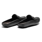 Sapato Masculino Mule Tresse Gravata Cordão Latego Preto
