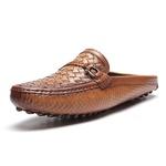 Sapato Masculino Mule Tresse Gravata Cordão Latego Havana