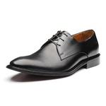 Sapato Masculino Derby Calf Liso Preto