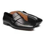 Sapato Masculino Mocassim Floater Gravata Lisa Preto