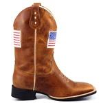 Bota Texana Bordado Bandeira Estados Unidos USA