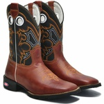 Bota Texana Country Tribal - Conhaque/Cinza