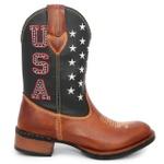Bota Texana Masculino Bico Redondo Cano Longo Bota de Rodeio - Compre Agora