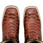 Bota Texana Masculino Escamada Bico Quadrado Cano Longo - Cowboy