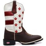 Bota Texana Bandeira New Canada Sistema Bruto