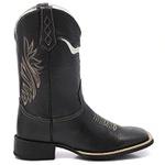 Bota Texana Masculino - Cara de Touro Cano Preto