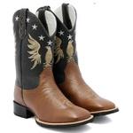 Bota Texana Country Masculino Cano Longo Bordado Águia