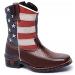 Bota Texana Infantil Bandeira Estados Unidos