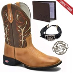 Bota Texana Country Tribal - Camel/Brown