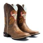 Bota Texana Masculina Country Touro Sistema Bruto