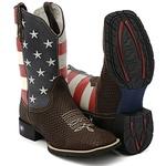 Bota Texana Bandeira USA Estilo Snaker