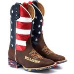 Bota Texana Boiadeiro Cano Longo Bandeira Estados Unidos