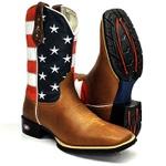 Bota Texana Country Bandeira Estados Unidos