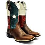 Bota texana Country Bandeira do Chile Texas Sistema Bruto