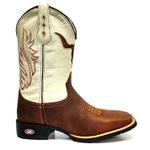 Bota Texana Country Cabeça de Touro Cano branco