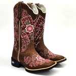 Bota Feminina Texana Country Cruz Bruta