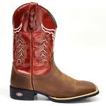 Bota Texana Country Texana Cara de Touro Cano Vermelho