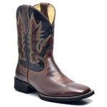 Bota Texana Country Masculina Couro Bovino + Boné de Brinde