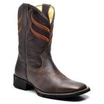 Bota Texana Cowboy Masculina Couro Bovino + Boné de Brinde