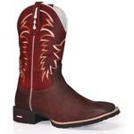 Bota Texana Country Rodeo - Vermelho/Café