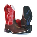 Bota Texana Country USA Bulls Red
