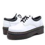 Sapato Colegial Inglês Estilo Veggie Verniz Branco