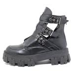 Coturno Tratorado Freyja Estilo Veggie Shoes Preto