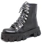 Coturno Tratorado Winnie Estilo Veggie Shoes Preto