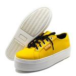 Tênis Cano Baixo Estilo Veggie Amarelo