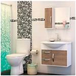 Gabinete De Banheiro Cerocha Apus Munique Com Branco 60,0cm