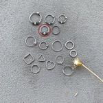Piercing Furo Indiano Bolinha (1cm) em Prata 925