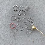 Piercing Furo Quadrado (1cm) em Prata 925