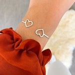 Bracelete Corações Vazados em Prata 925