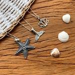 Pingente Estrela do Mar Envelhecido em Prata 925