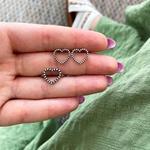Anel Coração Vazado Bolinhas Envelhecido em Prata 925