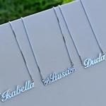 Colar Nome Simples em Prata 925