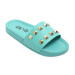 Chinelo Slide Jewels - Verde Acqua