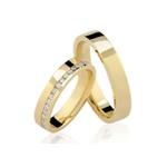 Alianças Louveira ♥ Casamento e Noivado em Ouro 18K
