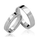 Alianças Havai ♥ Namoro e Compromisso em Prata 0,950