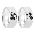 Alianças Mickey e Minnie ♥ Namoro e Compromisso em Prata 0,950