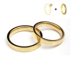 Combo Pacifico 4mm ♥ Casamento E Noivado Tungstênio