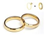 Combo Pace 4mm ♥ Casamento E Noivado Tungstênio