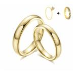 Combo Gaya 4mm ♥ Casamento E Noivado Tungstênio